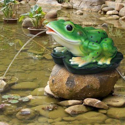 玻璃钢喷水青蛙雕塑