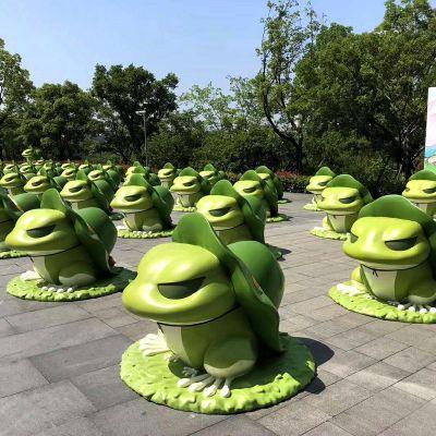 卡通青蛙玻璃钢雕塑