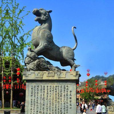 白虎铜雕景观雕塑