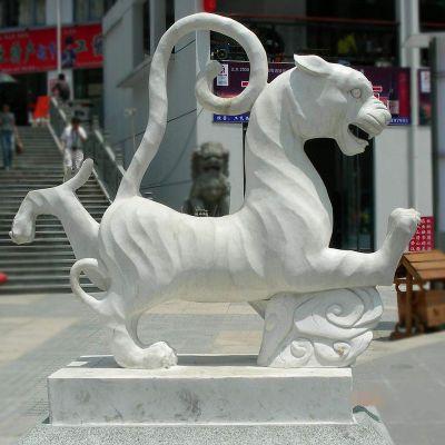 汉白玉白虎雕塑