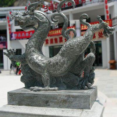 大理石青龙雕塑