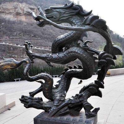 青龙纯铜雕塑