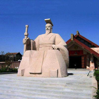 轩辕黄帝砂岩石雕塑