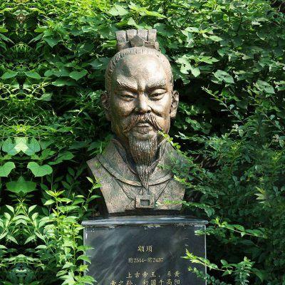 颛顼铜雕头像雕塑