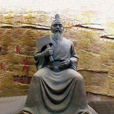 颛顼铸铜雕塑