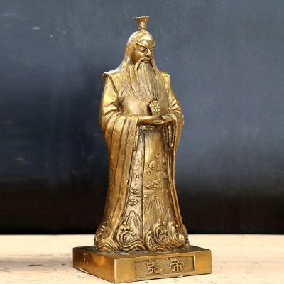 尧帝铸铜雕像
