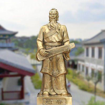 纯铜铸造舜帝雕像