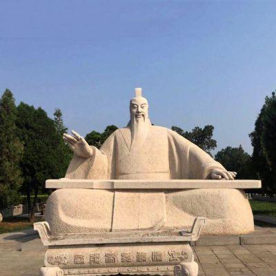 舜帝弹琴石雕塑像