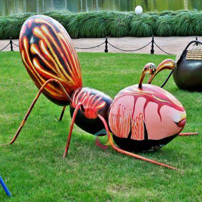 彩绘蚂蚁公园摆件雕塑