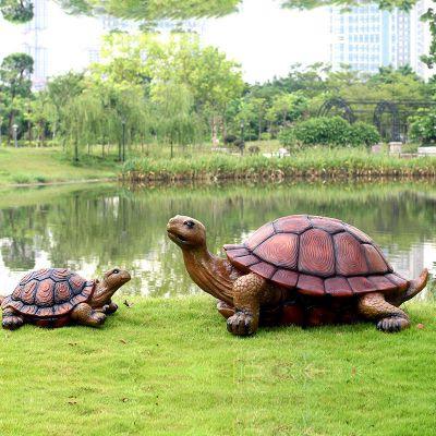 仿真乌龟玻璃钢水景雕塑摆件