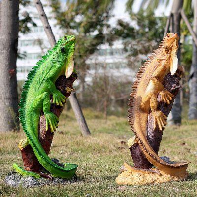 仿真蜥蜴雕塑摆件