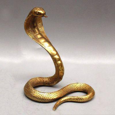 眼镜蛇纯铜雕塑