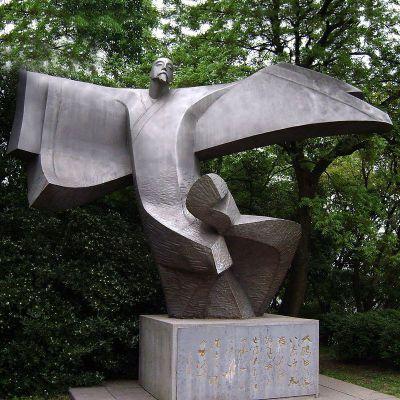 李白抽象铜雕