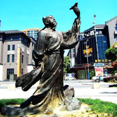 李白铜雕塑像