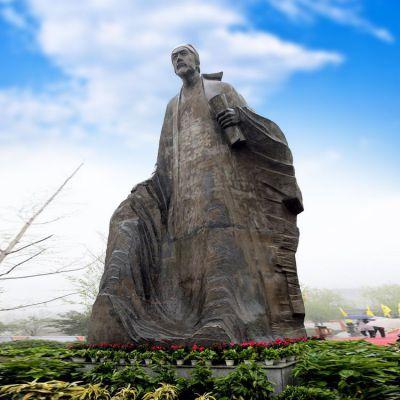 纯铜杜甫塑像