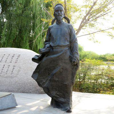 杜甫铜雕塑像