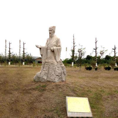 石雕谢灵运雕塑