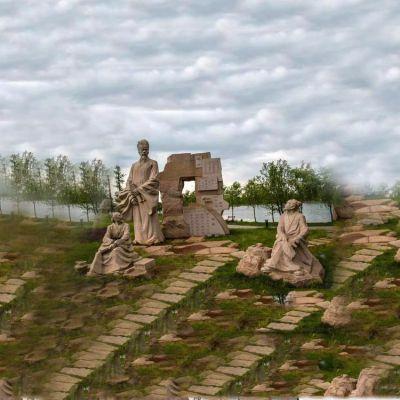 谢灵运景观石雕