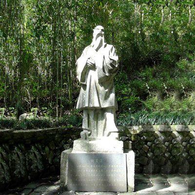 谢灵运石雕塑像