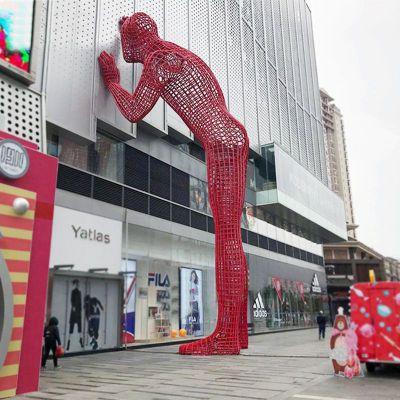 不锈钢铁艺网格人物景观雕塑