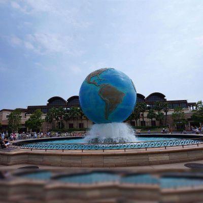 不锈钢地球仪水景喷泉