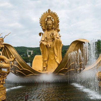 滴水观音铜雕水景景观