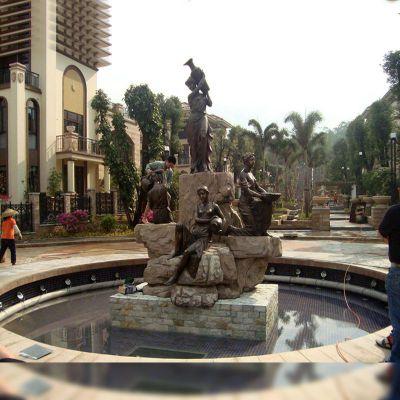 欧式人物铜雕喷泉水景雕塑