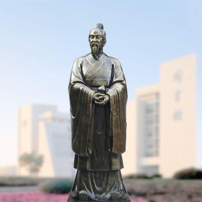 仿铜玻璃钢扁鹊雕塑