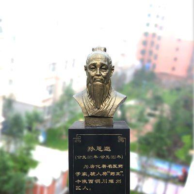 孙思邈纯铜头像雕塑