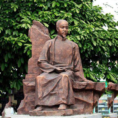 叶天士纯铜雕像