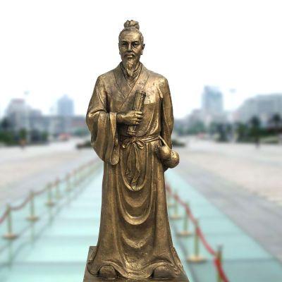 纯铜张仲景铜雕塑