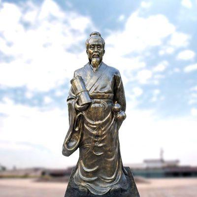 张仲景仿铜雕像